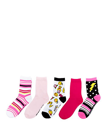 EMOJI BETSEY CREW SOCK FIVE PACK