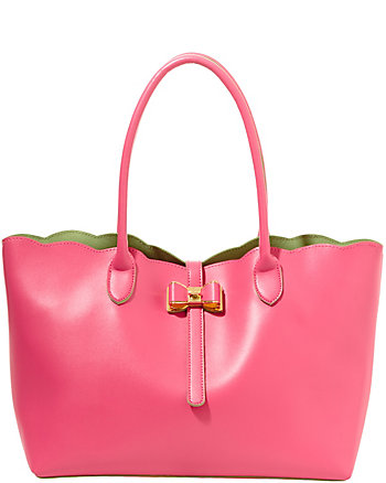 EXTRA BAGGAGE SCALLOP EDGE TOTE