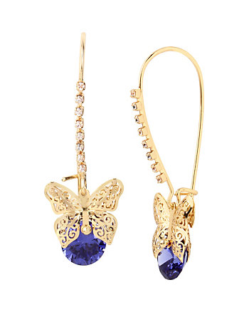 FALL CRITTERS BUTTERFLY CZ SHEPHARD HOOK EARRING