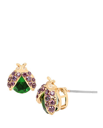 FALL CRITTERS LADY BUG CZ STUD EARRING