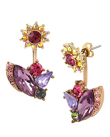 FALL FOLLIES FLOWER FRONT BACK EARRINGS