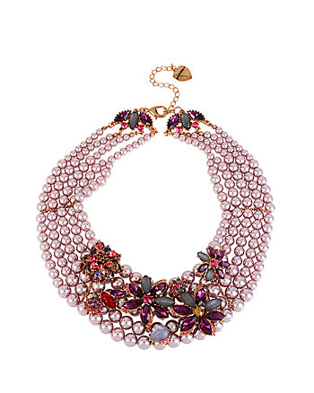 FALL FOLLIES MULTI STRAND DRAMA NECKLACE