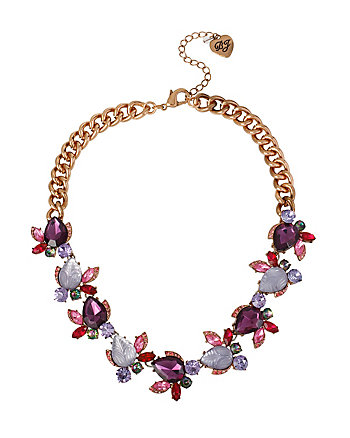 FALL FOLLIES RHINESTONE FRONTAL NECKLACE