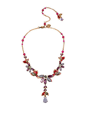 FALL FOLLIES RHINESTONE Y NECKLACE