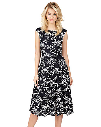 FALLING FOR FLOWERS MIDI DRESS