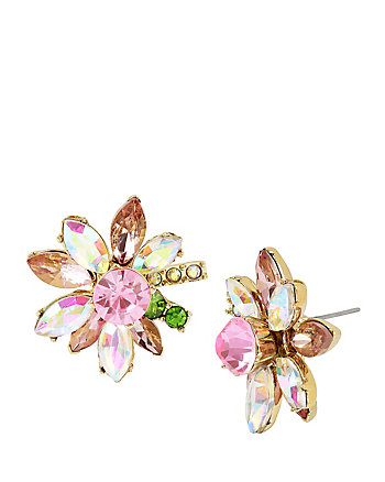 FLAT OUT FLORAL FLOWER STUD EARRINGS