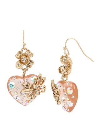 FLAT OUT FLORAL HEART EARRINGS