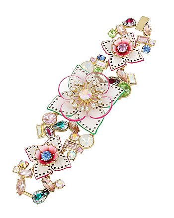 FLAT OUT FLORAL STATEMENT BRACELET