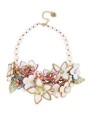 FLAT OUT FLORAL STATEMENT NECKLACE