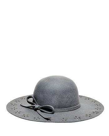 FLORAL CUT OUT FELT FLOPPY HAT