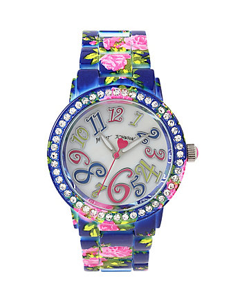 FLORAL ENAMELED WATCH