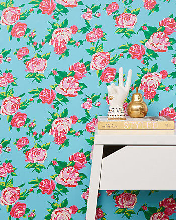 FLORAL FACE FLOWER REMOVABLE WALLPAPER