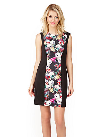 FLORAL FORM INSERT DRESS