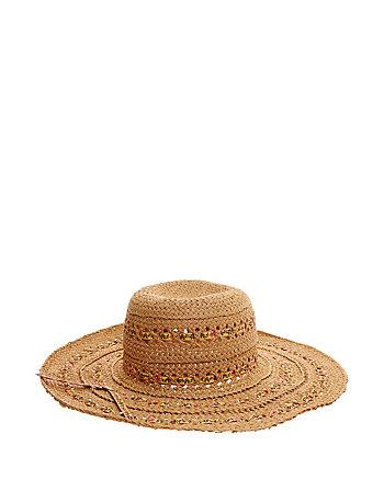 FLORAL RIBBON FLOPPY HAT