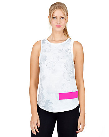 FLORAL TANK WITH SOLID BAR