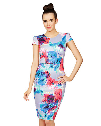 FLORAL WONDER MIDI LENGTH DRESS