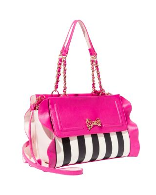 FLOUNCIN AROUND SATCHEL FUCHSIA