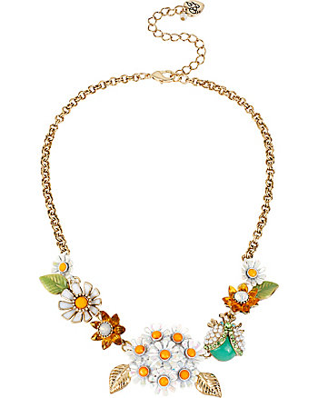 FLOWER CHILD DAISY LADYBUG NECKLACE