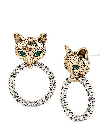 FOX TROT FOX RINGS DROP EARRINGS