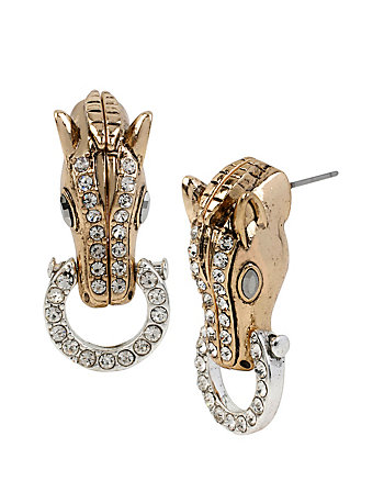 FOX TROT HORSE RINGS DROP EARRINGS