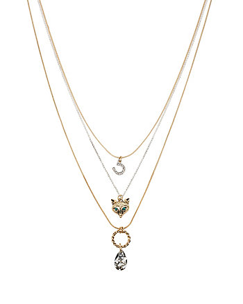 FOX TROT MULTI ROW NECKLACE
