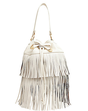 FRINGE PARTY BUCKET BAG