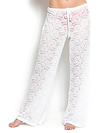 GARDEN CROCHET COVERUP PANTS