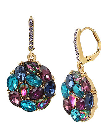 GARDEN OF EXCESS BLUE CLUSTER DROP EARRING