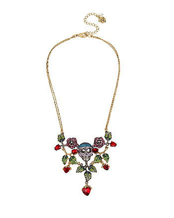 GARDEN OF EXCESS FLOWER SKULL NECKLACE