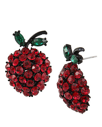 GARDEN OF EXCESS FRUIT BUTTON EARRING