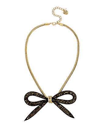 GARDEN OF EXCESS MESH BOW NECKLACE