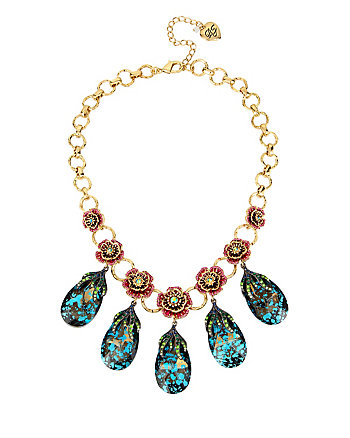GARDEN OF EXCESS MULTI TEARDROP NECKLACE