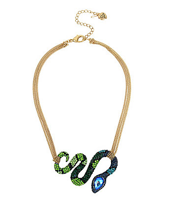 GARDEN OF EXCESS SNAKE FRONTAL NECKLACE