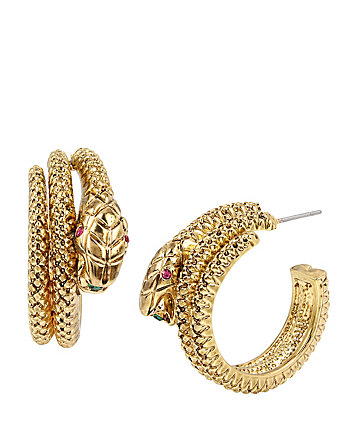 GARDEN OF EXCESS SNAKE WRAP HOOP EARRINGS