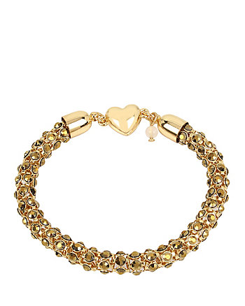 GARDEN OF EXCESS TOPAZ AND GOLD MAGNETIC BRACELET