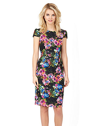 GARDEN PARTY MIDI LENGTH DRESS