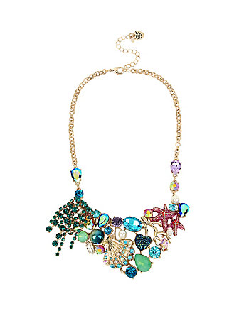 GLITTER REEF CLUSTER BIB NECKLACE