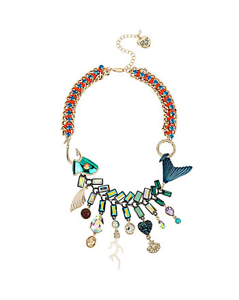 GLITTER REEF FISH FRONTAL NECKLACE