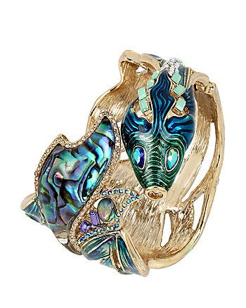 GLITTER REEF FISH HINGE BANGLE