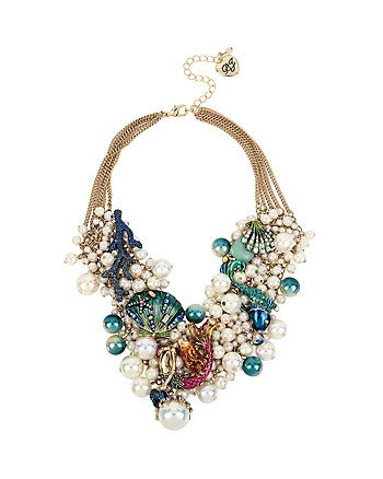 GLITTER REEF PEARL STATEMENT NECKLACE