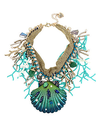 GLITTER REEF SHELL STATEMENT NECKLACE