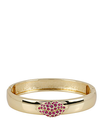 GOLD LIPS HINGE BANGLE