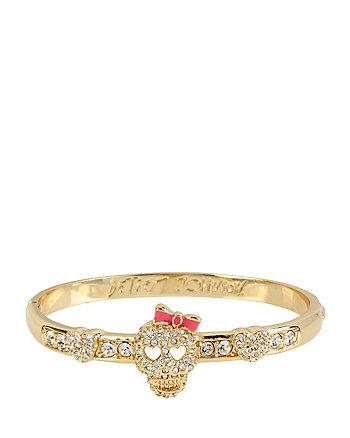 GOLD SKULL HINGE BANGLE