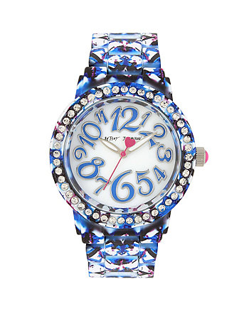 GRAFFITI PRINT RUBBERIZED WATCH