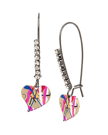 HARLEM SHUFFLE HEART DROP EARRINGS