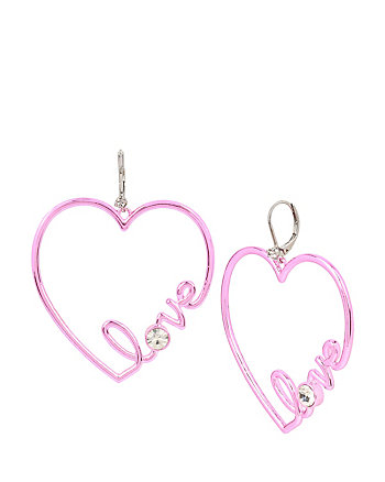 HARLEM SHUFFLE LOVE PINK EARRINGS