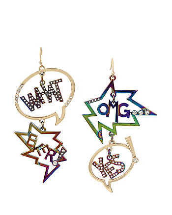 HARLEM SHUFFLE SPEECH EARRINGS