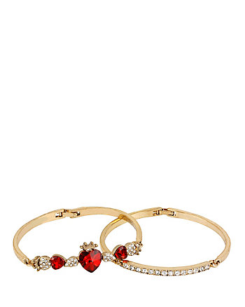 HEART DUO BANGLE SET
