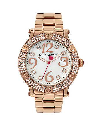 HEART TRIMMED ROSE GOLD WATCH