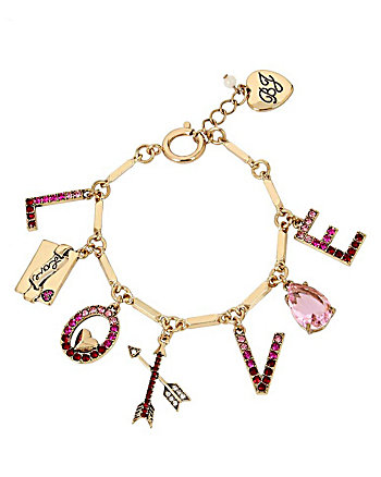 HEARTS AND ARROWS LOVE CHARM BRACELET